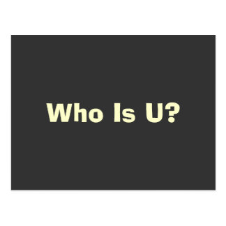 Who Is You Postcard