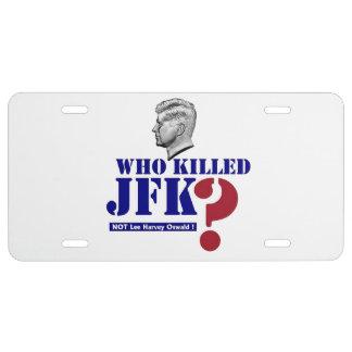 Who killed JFK? License Plate