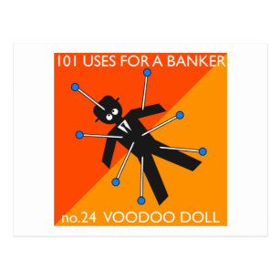 who knew what you do with voodoo?? postcard