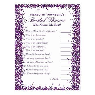 Who' Know's Me Game   Purple Confetti Postcard