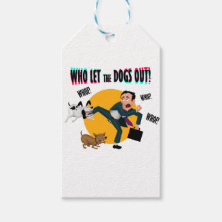 Who let the dogs out! gift tags