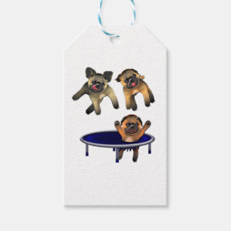 who let the pugs out gift tags