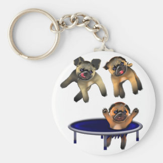 who let the pugs out keychain