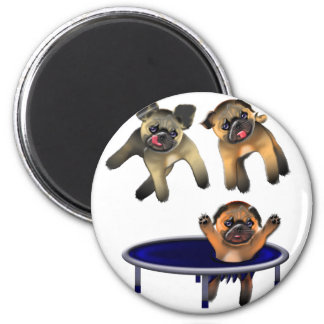 who let the pugs out magnet