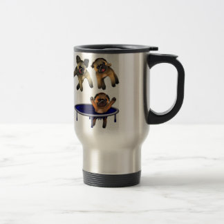 who let the pugs out travel mug