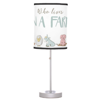 Who Lives On A Farm Lamp