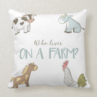 Who Lives On A Farm Pillow