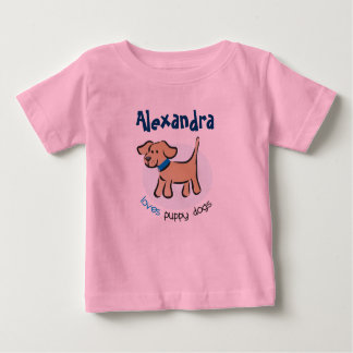 Who loves puppies? baby T-Shirt