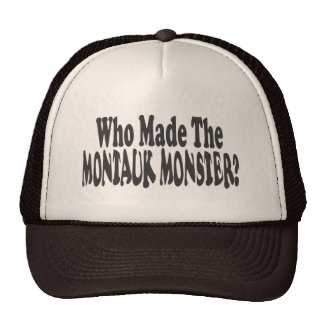 Who Made The Montauk Monster? - Two Lines Trucker Hat