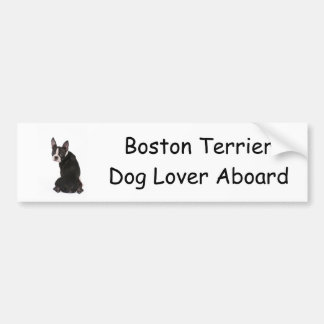 Who Me Boston Terrier Dog Bumper Sticker