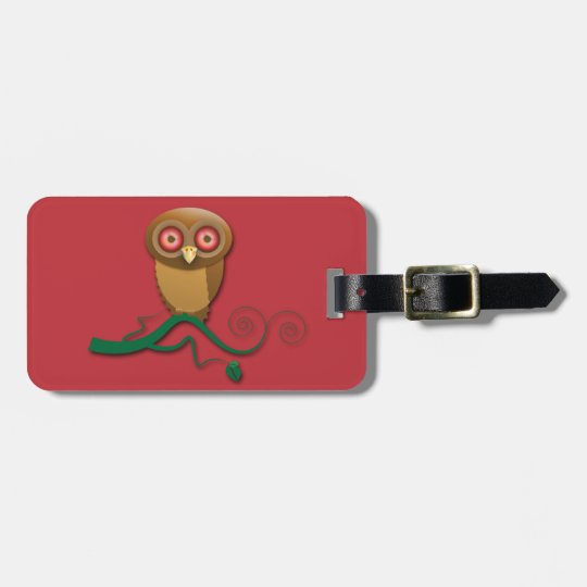 who me? says the owl luggage tag