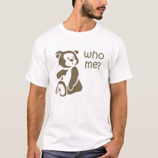 Who Me Teddy Bear Illustration Men's T-shirt