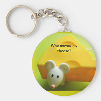 Who moved my cheese? basic round button keychain