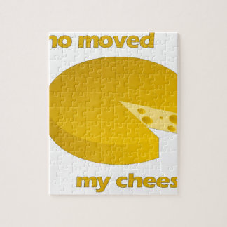 Who moved the cheese jigsaw puzzle