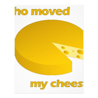 Who moved the cheese letterhead