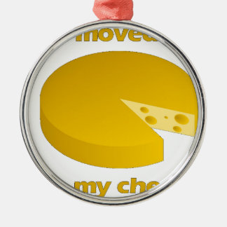 Who moved the cheese metal ornament
