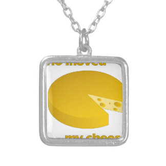 Who moved the cheese silver plated necklace
