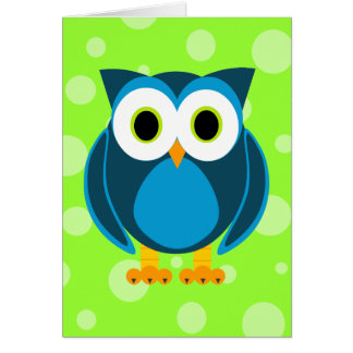 Who? Mr. Owl Cartoon Card