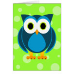 Who? Mr. Owl Cartoon Greeting Cards