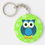 Who? Mr. Owl Cartoon Keychains