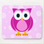 Who? Mrs. Owl Cartoon Mouse Pad