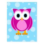 Who? Mrs. Owl Cartoon Postcard