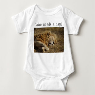 Who needs a nap - lion napping tee