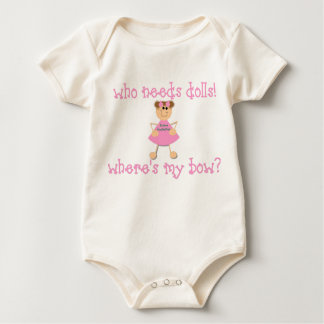 Who Needs Dolls? Baby Bodysuit