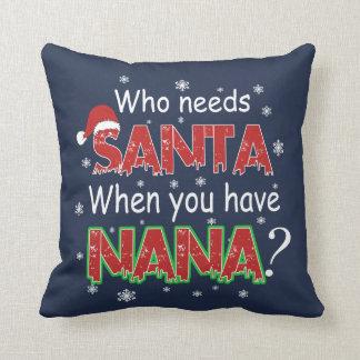 Who Needs Santa Throw Pillow