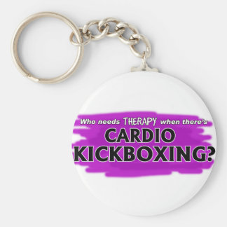 Who Needs Therapy When There's Cardio Kickboxing? Keychain