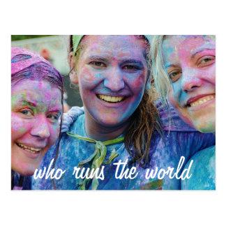Who Runs the World Postcard
