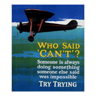 Who Said Can't - Try Trying Poster