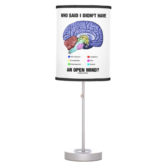 Who Said I Didn't Have An Open Mind? Brain Humour Table Lamp