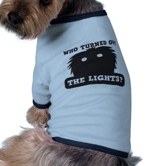who turned out the lights? doggie tee
