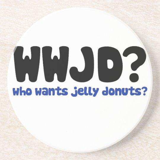 Who wants jelly doughnuts coaster