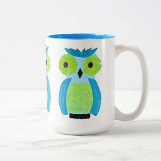 Who? Who? Colorful Owl Mug