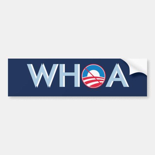 WHOA Obama Bumper Sticker