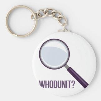 Whodunit Basic Round Button Keychain