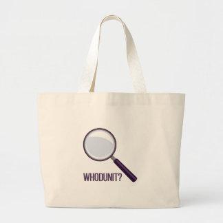 Whodunit Large Tote Bag