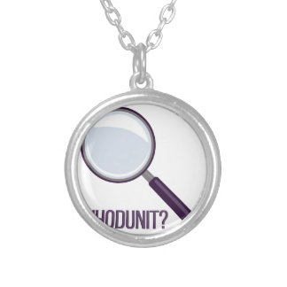 Whodunit Silver Plated Necklace