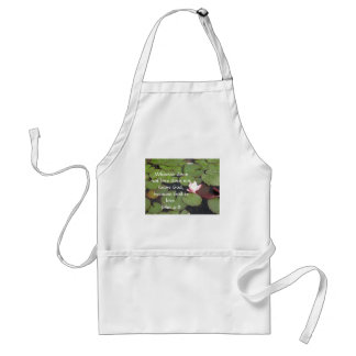 Whoever does not love does not know God,. John 4:8 Adult Apron