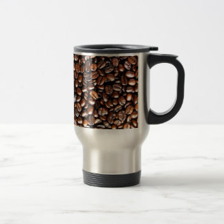 Whole Bean Coffee Pattern 15 Oz Stainless Steel Travel Mug