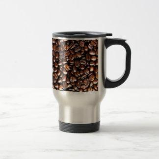 Whole Bean Coffee Pattern 15 Oz Stainless Steel Travel Mug