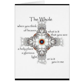 """Whole Beauty"" - blank poetry art card"