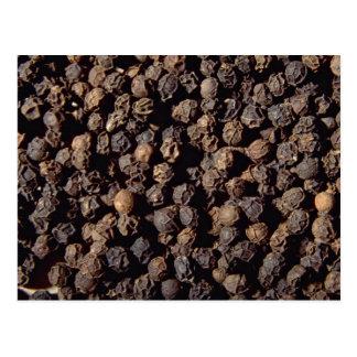 Whole black pepper corns postcard