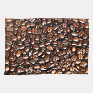 Whole Coffee Beans Pattern Kitchen Towel