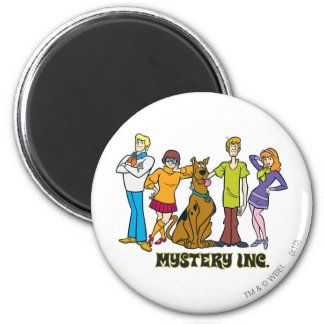 Whole Gang 12 Mystery Inc 2 Inch Round Magnet