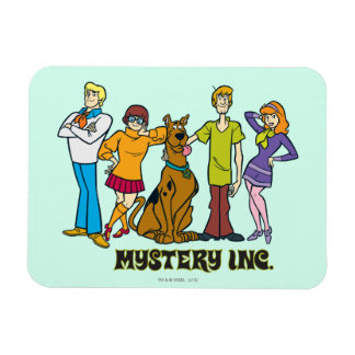 Whole Gang 12 Mystery Inc Rectangular Photo Magnet