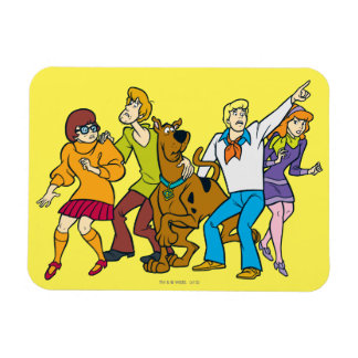 Whole Gang 13 Mystery Inc Rectangular Photo Magnet