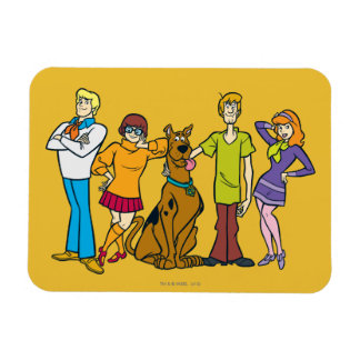 Whole Gang 14 Mystery Inc Rectangular Photo Magnet